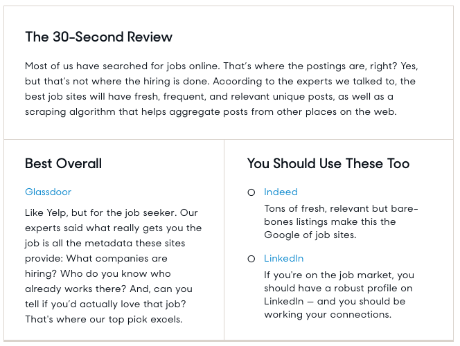 good job sites